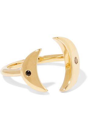 ELIZABETH AND JAMES Luna gold-tone topaz ring