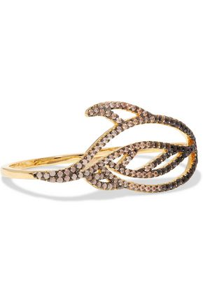 NOIR JEWELRY Lustrous gold-tone crystal ring