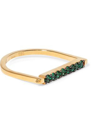 EYE M by ILEANA MAKRI Gold-plated cubic zirconia ring