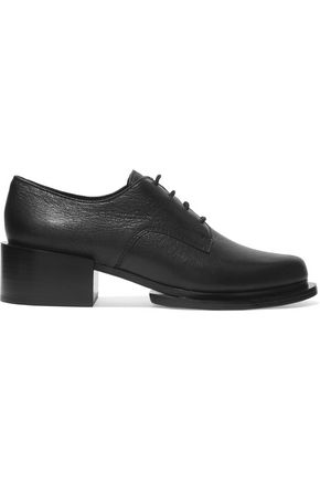 DKNY Symon textured-leather brogues