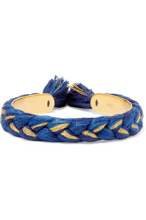 AURÉLIE BIDERMANN Copacabana 18-karat gold braided bracelet