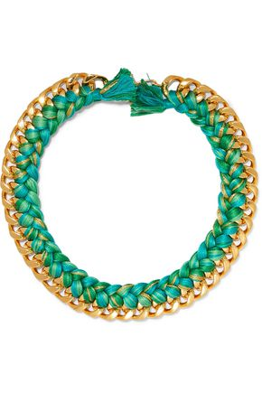 AURÉLIE BIDERMANN Do Brasil 18-karat gold braided necklace