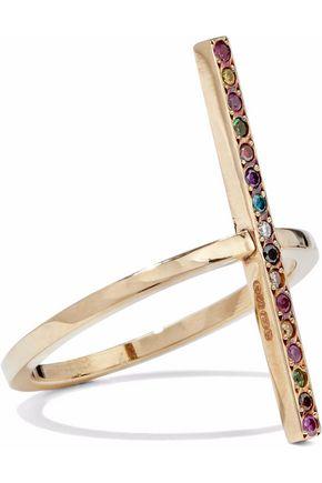 ILEANA MAKRI Gold crystal ring