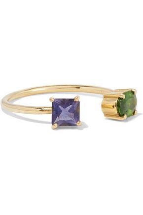 ILEANA MAKRI 18-karat gold crystal ring