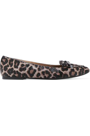 MICHAEL MICHAEL KORS Nancy animal-print calf hair loafers
