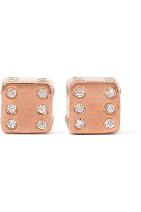 AAMAYA by PRIYANKA Rose gold-plated topaz earrings