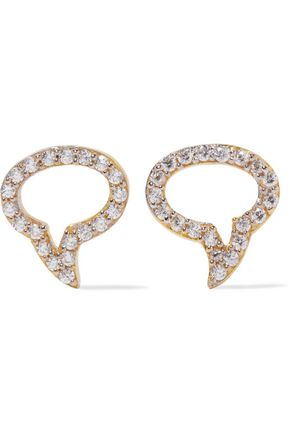 AAMAYA by PRIYANKA Speech Bubble gold-plated topaz earrings