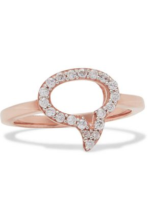 AAMAYA by PRIYANKA Speech Bubble rose gold-plated topaz ring