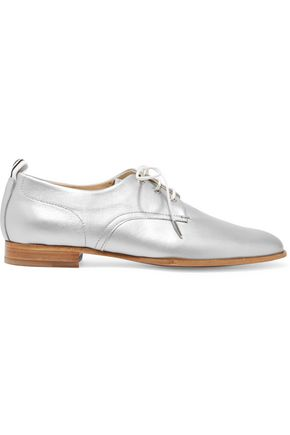 RAG & BONE Audrey metallic leather brogues