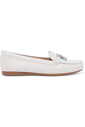 MICHAEL MICHAEL KORS Suki chain-trimmed textured-leather loafers