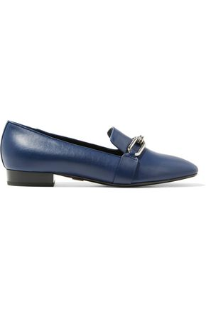 MICHAEL KORS COLLECTION Lennox embellished leather loafers