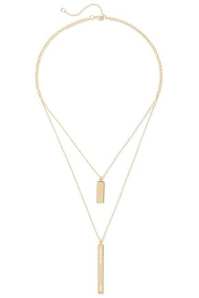 ELIZABETH AND JAMES Amber gold-plated topaz necklace