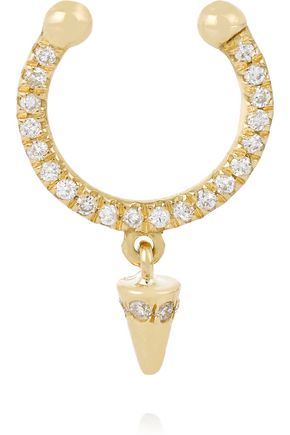ILEANA MAKRI Spike 18-karat gold diamond nose ring