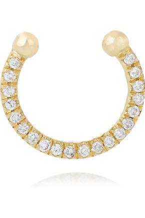 ILEANA MAKRI Thread 18-karat gold diamond nose ring