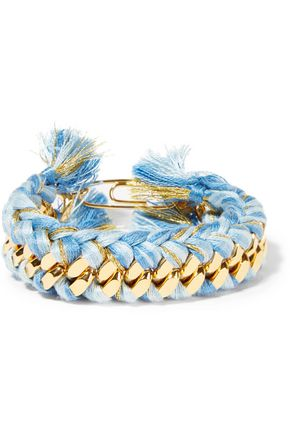 AURÉLIE BIDERMANN Gold-plated braided cotton bracelet