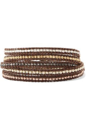 CHAN LUU Gold-plated woven beaded bracelet