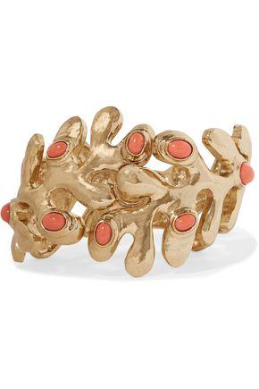 OSCAR DE LA RENTA Sea Tangle gold-tone resin bracelet