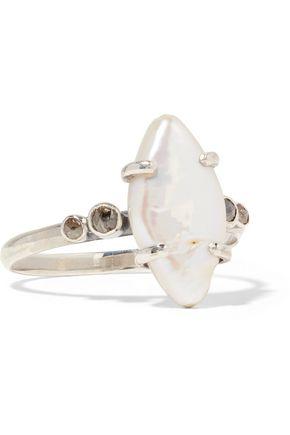 CHAN LUU Silver, pearl and diamond ring