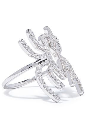 KHAI KHAI 18-karat white gold diamond ring
