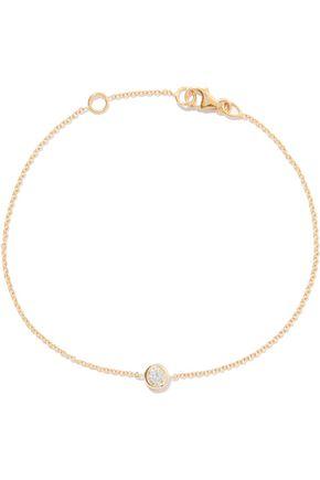 CARBON & HYDE Solitaire 14-karat gold diamond bracelet