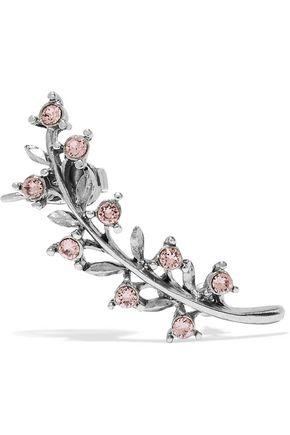 OSCAR DE LA RENTA Silver-tone crystal ear cuff