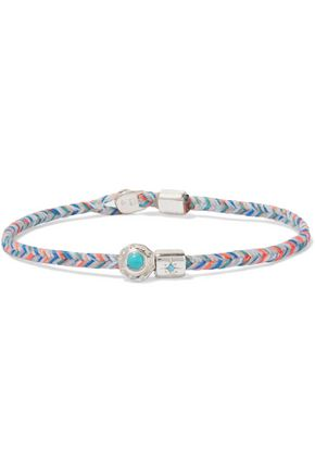 SCOSHA Woven, silver, turquoise and diamond bracelet