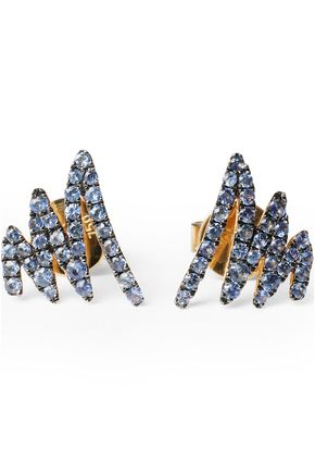KHAI KHAI 18-karat gold sapphire earrings