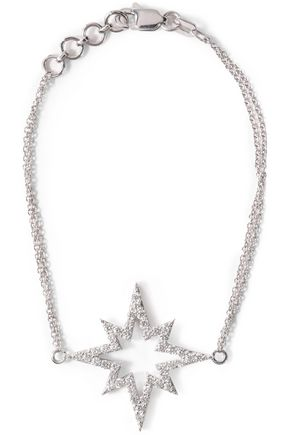 KHAI KHAI 18-karat white gold crystal necklace