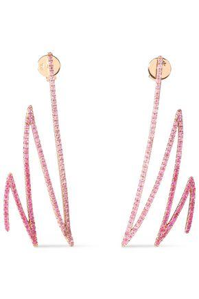 KHAI KHAI 18-karat gold sapphire earrings