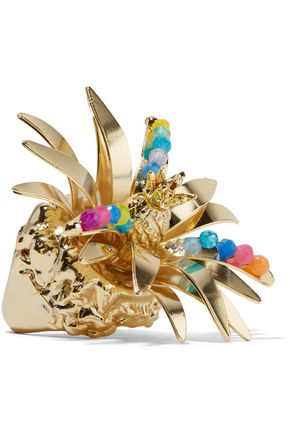 ROSANTICA Tropicale gold-tone quartz ring