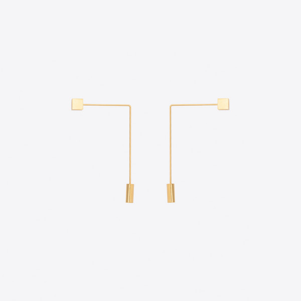 Double Tie Pin Earrings