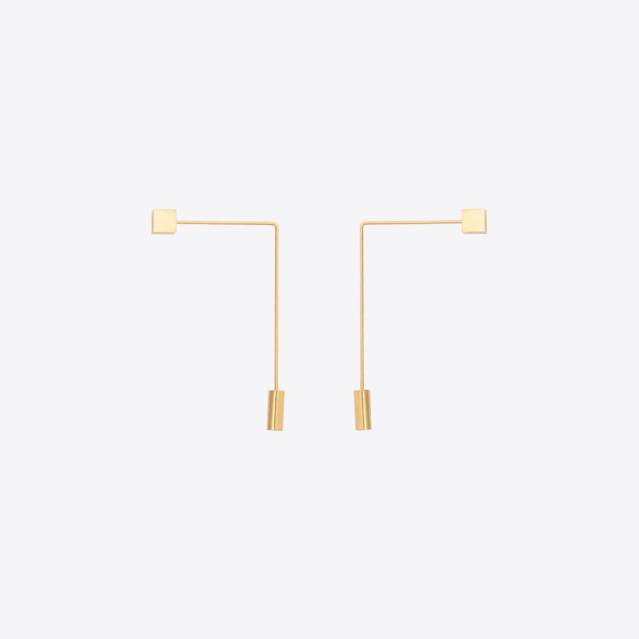 Balenciaga Angular Tie Pin earrings mwAruIEPky