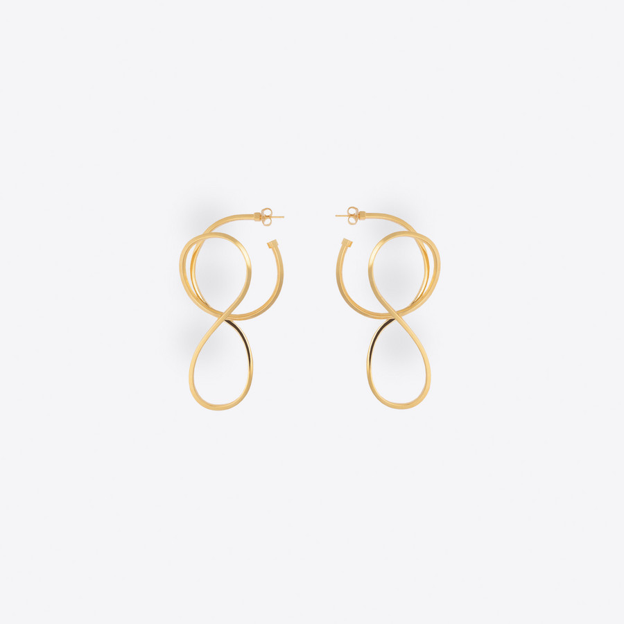 BALENCIAGA Circle Elastic Earrings Earring Woman f