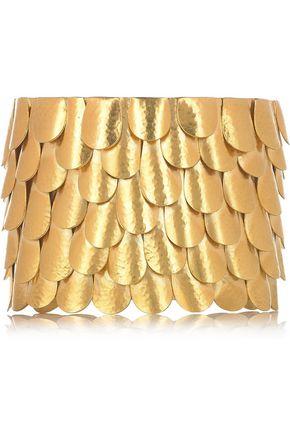 SOPHIA KOKOSALAKI Gold-plated silver tiered cuff