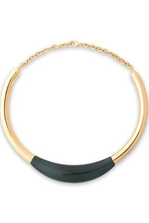 BALMAIN Gold-tone resin necklace