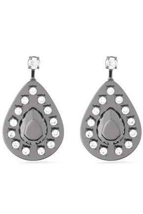 MAISON MARGIELA Gunmetal-tone crystal earrings