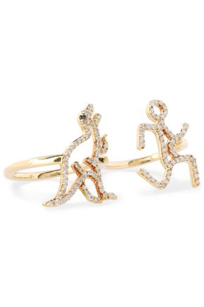 KHAI KHAI 18-karat gold diamond ring