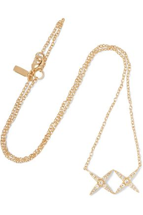 ELIZABETH AND JAMES Vida gold-tone crystal necklace