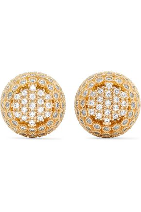 KENNETH JAY LANE Gold-tone crystal earrings