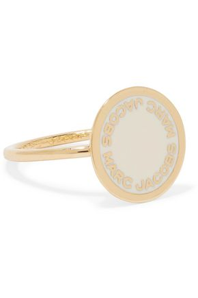 MARC JACOBS Gold-tone enamel ring