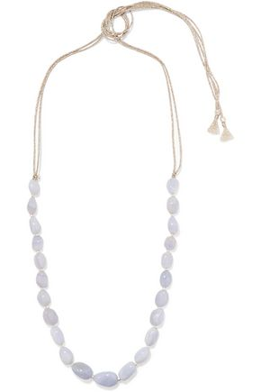 CHAN LUU Metallic cord and beaded stone necklace