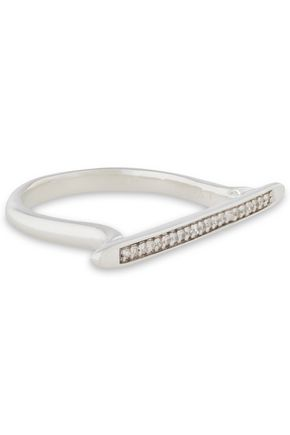 MONICA VINADER Skinny sterling silver diamond ring