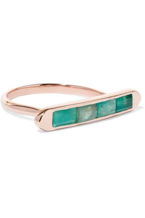 MONICA VINADER Baja Precious 18-karat rose gold vermeil emerald ring