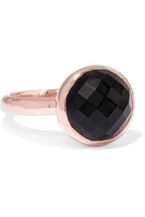 MONICA VINADER Medina rose gold-tone crystal ring