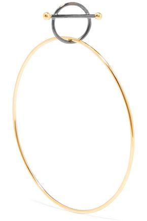 MARIA BLACK Swing gunmetal and gold-tone earring