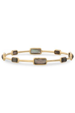 IPPOLITA 18-karat gold, quartz and shell bangle