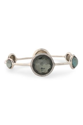 IPPOLITA Sterling silver, pyrite, and diamond bangle