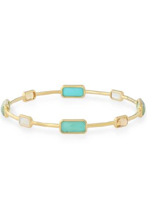 IPPOLITA Gold-tone multi-stone bangle