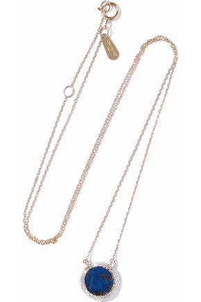 ADINA REYTER 14-karat gold, diamond and lapis lazuli necklace
