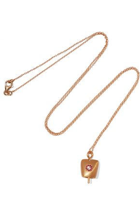 EYE M by ILEANA MAKRI Dream Belle gold-plated crystal necklace
